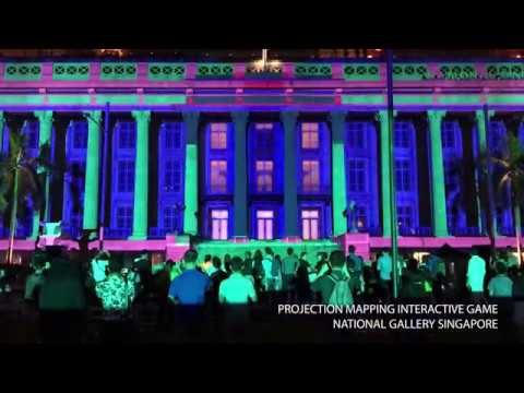 3DsHK x Spinifex // Projection Mapping Interactive Game  //  National Gallery Singapore