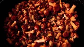 Жареная картошка с лисичками (Смажаная бульба зь лісічкамі)