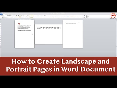 Portrait and Landscape in Same Word Document