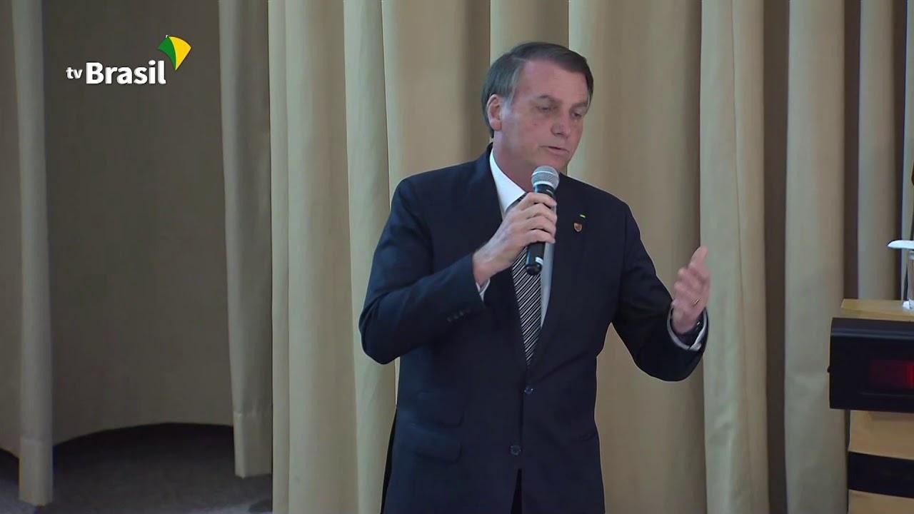 Presidente Jair Bolsonaro fez palestra na ECEME