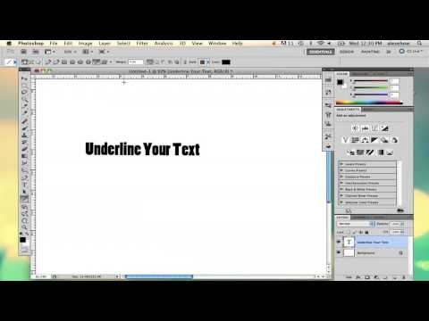 How to Underline Text in Photoshop : Using Adobe Photoshop