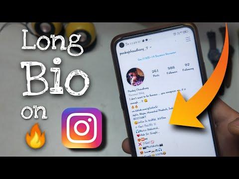 How to Write Long Bio on Instagram 2020 | Insta Pr Long Bio Kaise Likhe |  Instagram Long Bio Trick