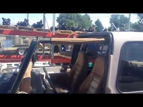 1978-1995 Jeep Wrangler YJ Fit CJ7 too Bestop Split Safarai Hard Top with Sliding glass uppers