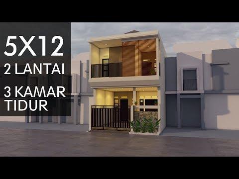 Desain Rumah 5x12 2 Lantai Youtube