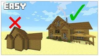 EASY TIPS TO BUILD BETTER IN MINECRAFT! Survival House Tutorial 2016 (TU35)