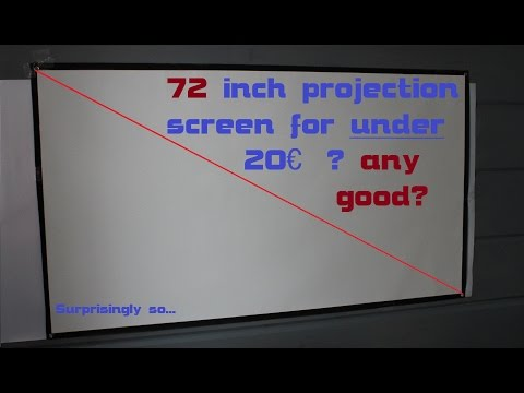 Projection screen on the cheap - 72 inch under 20€ (Ebay)