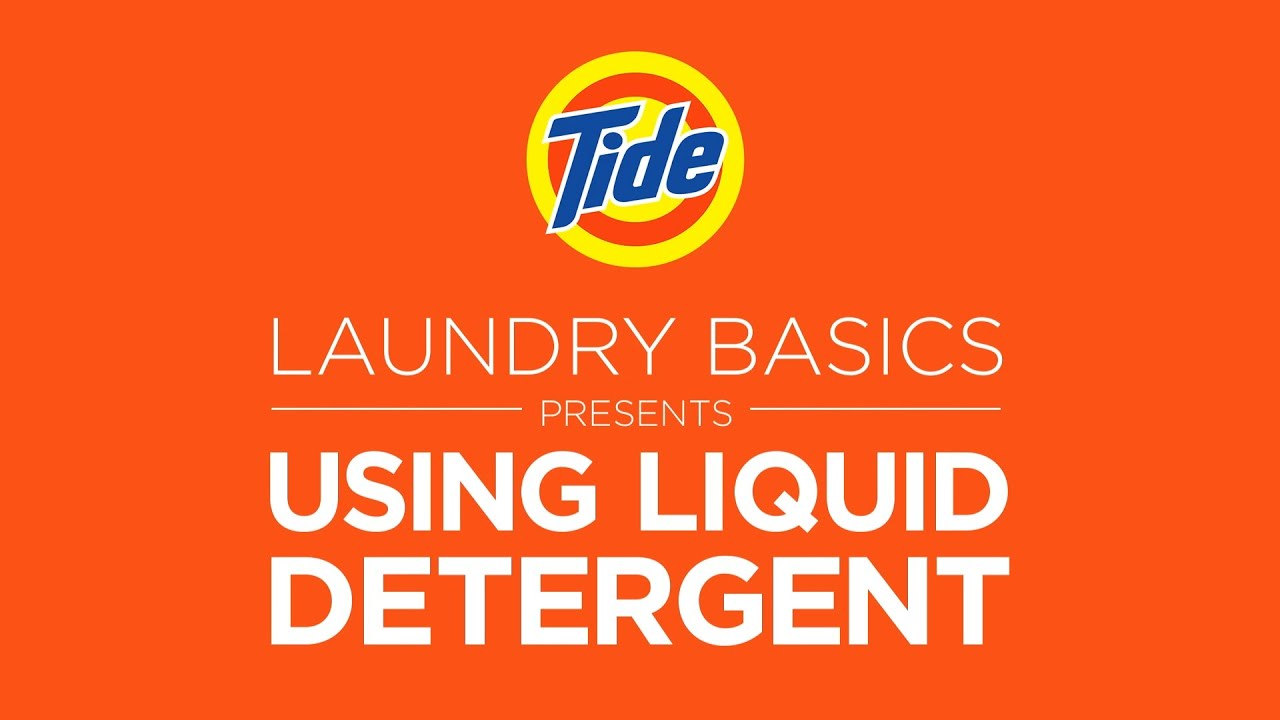 How Much He Detergent To Use Tide Laundry Tips How To Use Liquid Detergent Youtube