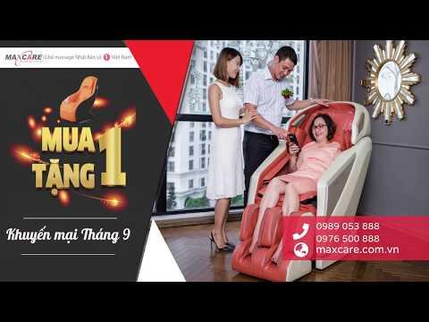 Ghế massage Maxcare/Inada Nhật Bản khuyến mại tháng 9