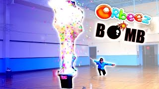 How to make a GIANT ORBEEZ BOMB with Liquid Nitrogen! 30,000 Orbeez Science Experiment Challenge!