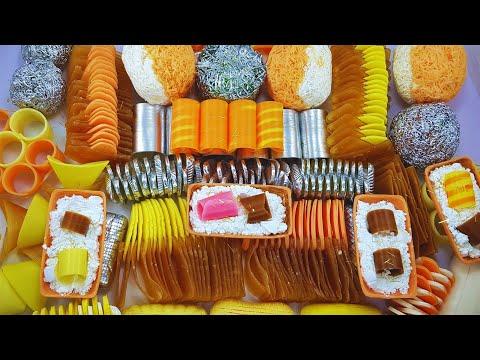 Bicolor Balls, Spirals, Corn Starch, Plates🍊🤍🍊Dry Soap Crashing💙🌹💦😋no Talking#asmrrelax