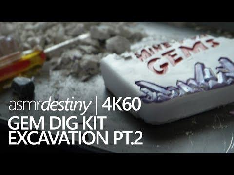 ASMR | ⛏ Gem Dig Kit Excavation Pt.2 for Relaxation! ⛏ (4K60)
