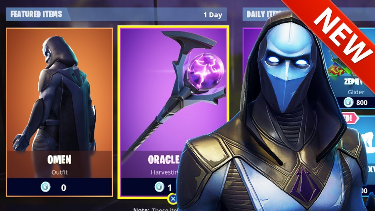 Fortnite Cape *new* omen skin, cape back bling & oracle axe! battle shroud - fortnite  battle royale
