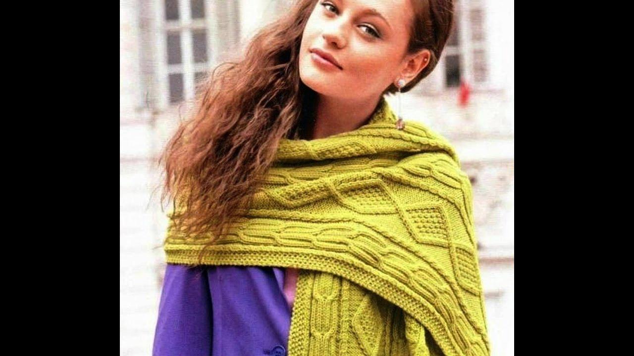 f53a2be06e3a Женские Вязаные Шарфы Спицами - фото - 2019 / Women knitted scarf knitting  needles - photo /Schal
