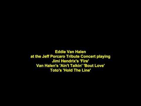 Eddie Van Halen plays Jimi Hendrix, Van Halen & Toto