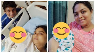 Baby face reveal-meet our baby girl||hospital theke bari elam