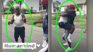 Amazing gift makes dad leap into son's arms | Humankind