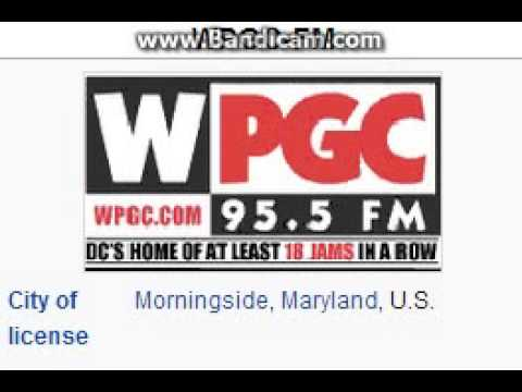 WPGC-FM WPGC 95.5 Morningside, MD TOTH ID at 7:00 p.m. 7/16/2014