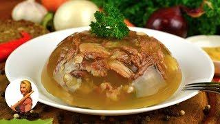 Домашний ХОЛОДЕЦ (холодное) Невероятно вкусный!!! Jelly Soup Recipe Готовить просто с Люсьеной