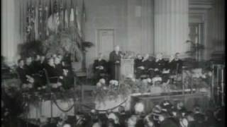 NATO 60th Anniversary: 1949 Footage of the Original Signing Session of the North Atlantic Treaty