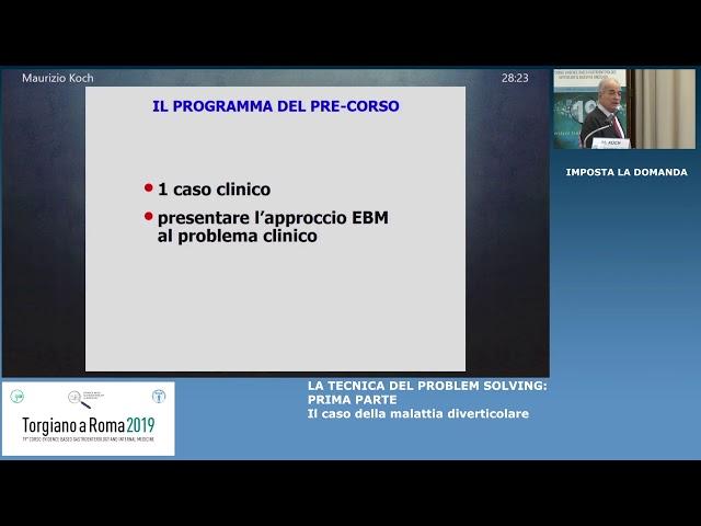 EBGH Torgiano 19 - PROBLEM SOLVING: caso della malattia diverticolare di Maurizio Koch