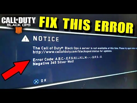 HOW TO FIX BLACK OPS 4 ERROR CODE a.b.c.d.e.f.-.h.i.j.k.-.-.n... (COD BO4 Console)