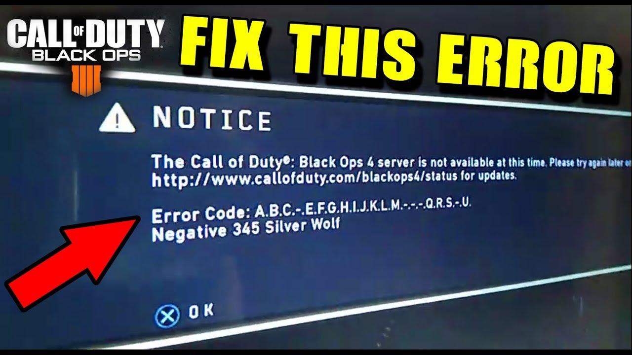 HOW TO FIX BLACK OPS 4 ERROR CODE a.b.c.d.e.f.-.h.i.j.k.-.-.n... (COD BO4 Console)