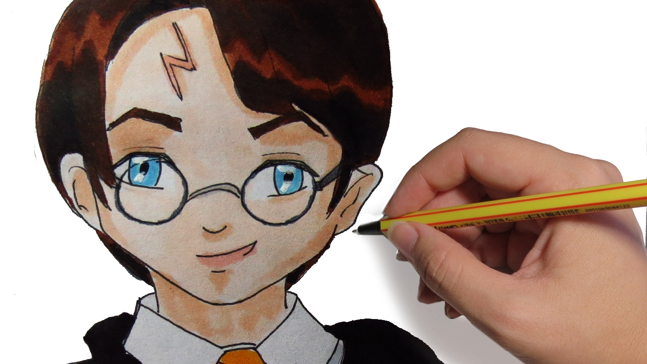 COMO DIBUJAR A HARRY POTTER EN ANIME: Aprende a dibujar manga facil ...
