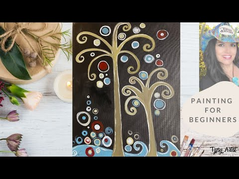 How to Paint Palm Trees with the Tipsy Artist