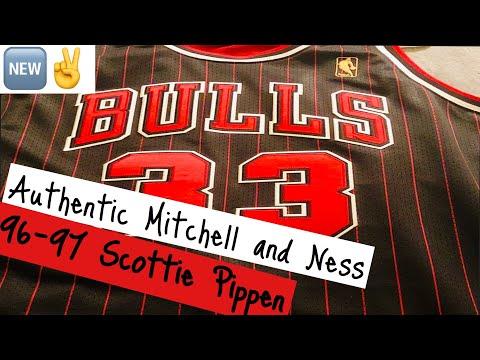 finest selection fc0eb 210f9 Authentic Scottie Pippen Chicago Bulls 96-97 jersey