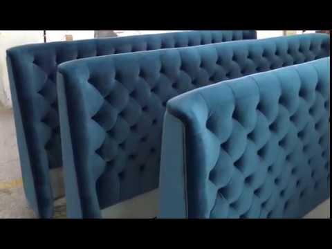 New Design Velvet Bed Headboard in Cocheen Furniture