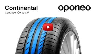 Tyre Continental ContiSportContact 5 ● Summer tyres ● Oponeo™