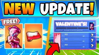 Fortnite VALENTINES FREE REWARDS, EVENT, and CHALLENGES! - New Update in Battle Royale Season 12!