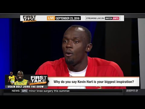 "Usain Bolt ""The Fastest Man"" 2016 Olympic Interview On Kevin Hart"