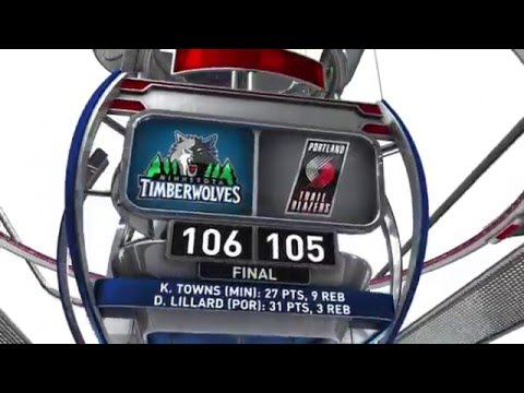 Minnesota Timberwolves vs Portland Trail Blazers - April 9, 2016