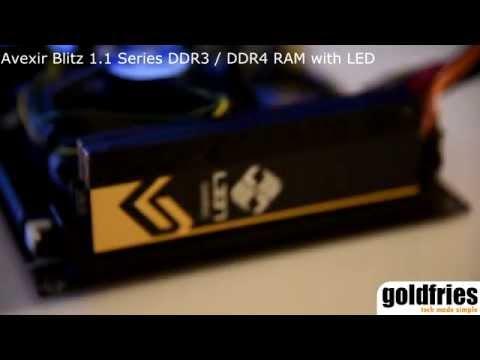 Avexir Blitz 1.1 Series DDR3 / DDR4 RAM With LED