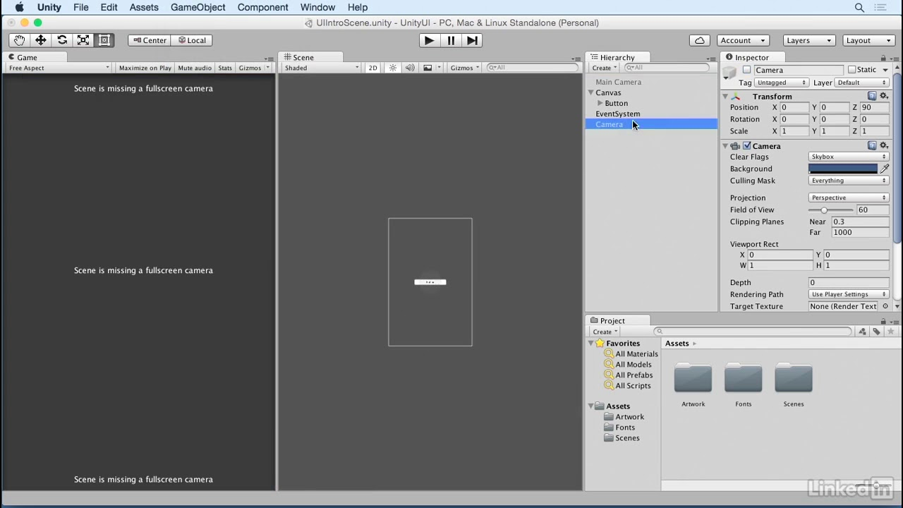 Unity 5: UI - 1 4 Canvas: Screen space