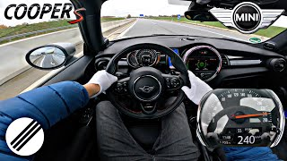 MINI COOPER S F56 TOP SPEED DRIVE ON GERMAN AUTOBAHN 🏎