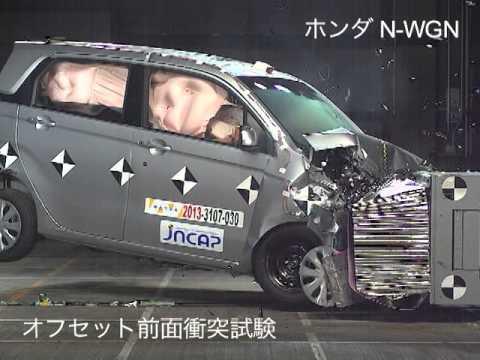自動車アセスメント:ホンダN-WGN:オフセット前面衝突試験