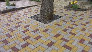 Укладка тротуарной плитки своими руками(Правильная и красивая укладка тротуарной плитки на садовом участке. Тротуарная плитка - способы и дизайн...., 2015-07-19T08:37:47.000Z)
