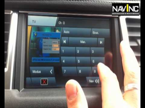 Range Rover Multimedia Interface With Touch Screen Control