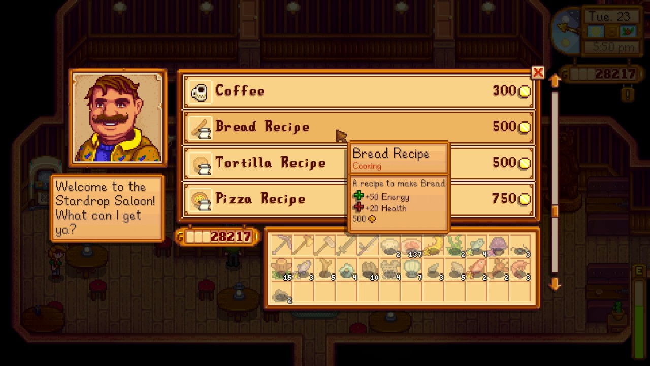 How To Get Bread Recipe Stardew Valley
