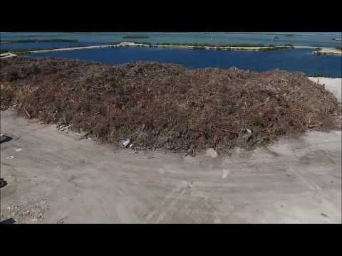 Temporary Debris Staging Area - Key West, Hurricane Irma