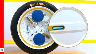 Continental Technology Adjusts Its Tire Pressure While Driving
