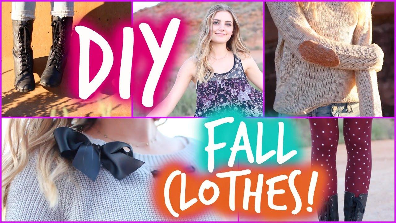 Easy DIY Fall Clothes Inspired by Tumblr! | Aspyn Ovard ...
