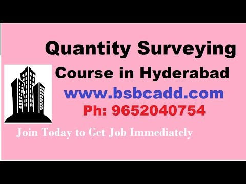 Quantity Surveying Course in Hyderabad BSB CADD
