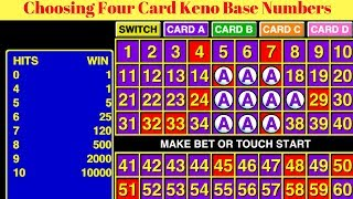 Choosing Four Card Keno Base Numbers Click Here: https://hotkenonum...