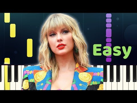 Taylor Swift - WELCOME TO NEW YORK - Easy Piano Tutorial with SHEET MUSIC thumbnail