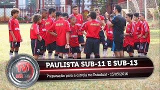 sub 11 e sub 13 se preparam para estreia no campeonato paulista 13 05 2016