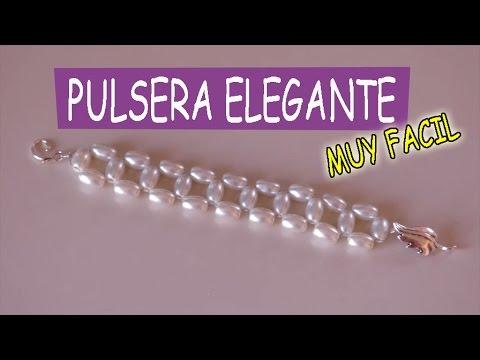8de6bc44500b Elegante Pulsera de piedras muy facil de hacer - YouTube