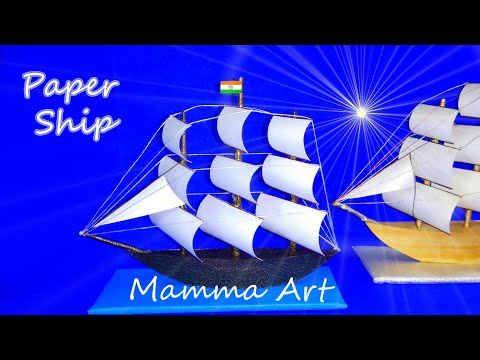Miniature Ship - How to make Miniature A with Paper at home || Paper Ship || Paper boat